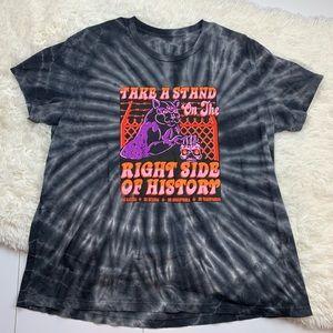 Boss dog zumiez tie dye graphic right side T-shirt